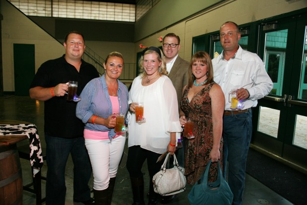 Chris and Adela Hunter, Jenny and Josh Farley, Stacy and Russell Butler