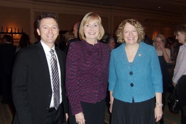 Craig Owens, Mayor Linda Goldstein, Cynthia Garnholz