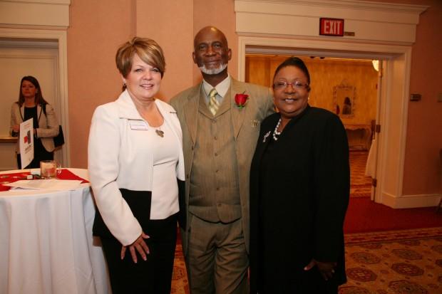 Christine Medley, Rev. Nathaniel Griffin, Yvonne Berry