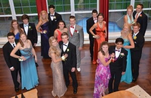 Lafayette High School prom group