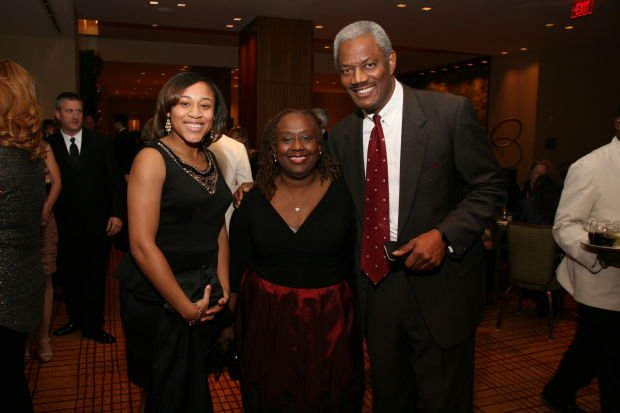 Brittney Byrth, Vetta Thompson, Clarence Jackson