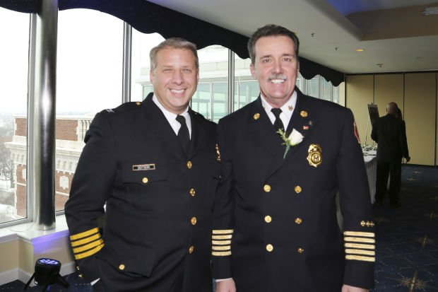 St. Louis Police Chief Sam Dotson, St. Louis Fire Chief Dennis Jenkerson