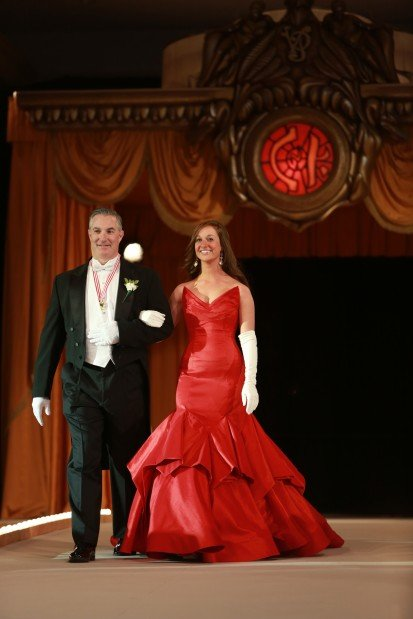 Madigan Elizabeth McGovern, daughter of Mr. and Mrs. Brian McGovern, escorted by Brian McGovern