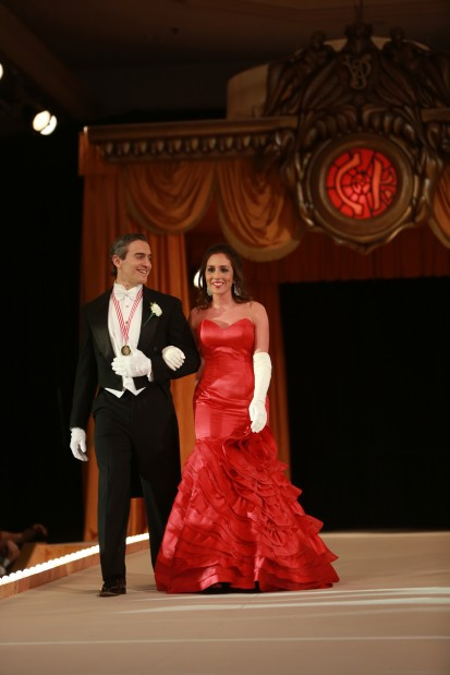 Cameron Nicole Catsavis, daughter of Mr. Gus Catsavis, escorted by Michael Christ
