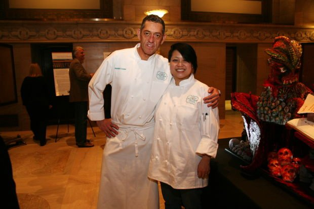 Chefs Martin Lopez and Sandia Hoormann