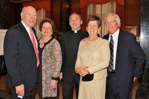 Darryl and Ellen Ross, Fr. Nick Kastenholz, Anne and John Shapleigh
