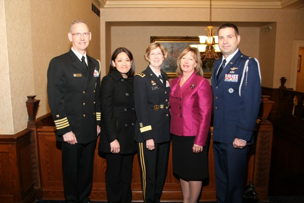 Mark Wheeler, JoAnn Papworth, Honoree Lt. Gen. Kathy Gainey,  Gail Jorgenson, Chad Annunziata