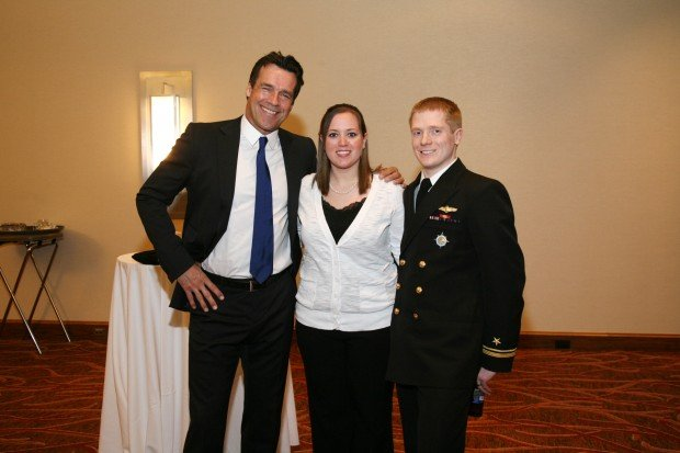 David James Elliott, Leah and Lt. Andrew Hanson