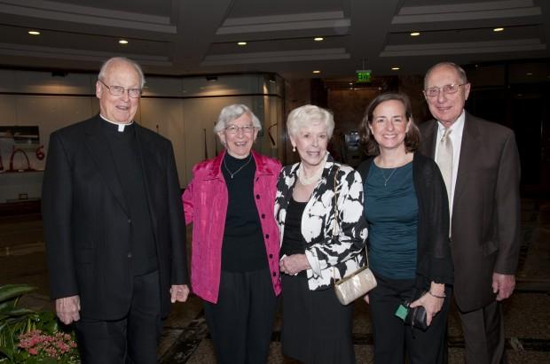 Msgr. Nicholas Schneider, Dr. Marie Kremer, Pat Flotte, Anne Bisch, Sylvester Flotte