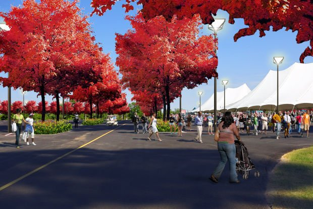 Forest Park Festival & Parking Plaza rendering