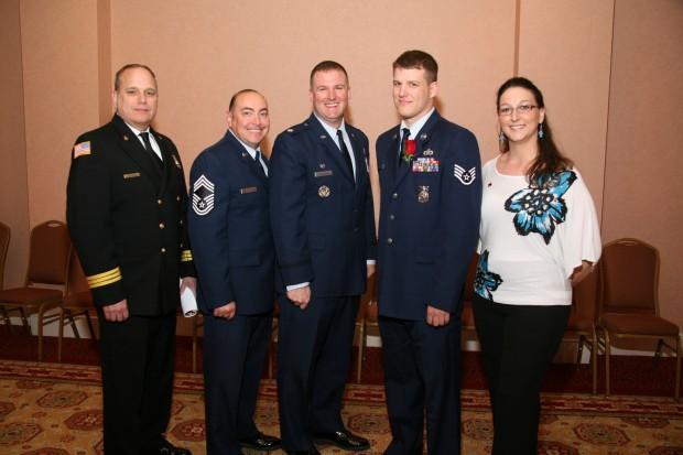 Tim Lillie, Jesus Longoria, Lt. Col. John Schuliger, Staff SSgt. James Fligor, Shannon Kues