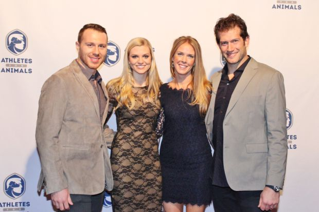 Ian Cole, Jordan Rockwell, Kelly and David Backes