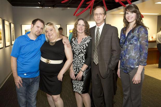 Chad and Jaime Sucher, Rebecca Bullivant, board member Robert Bullivant, Claire Tisch