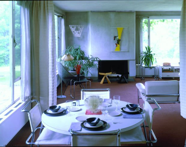 Gropius House living room/dining room