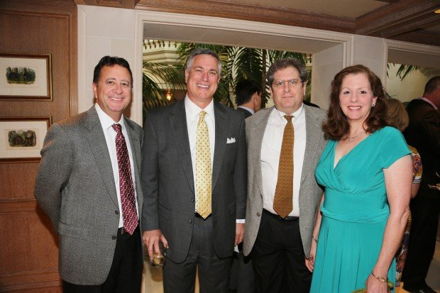 Mike Walsh, Gene Diederich, James and Betsy Foster