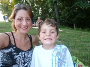 Sarah Connelly and her son, Jack Connelly, Valley Park