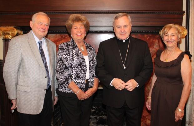 Leonard Dino, Pat Dino, Archbishop Carlson, Carole Less