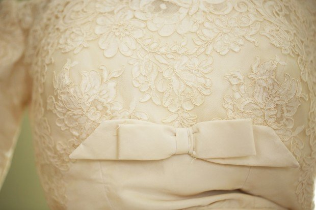 Wedding dress, detail, 1959-1960