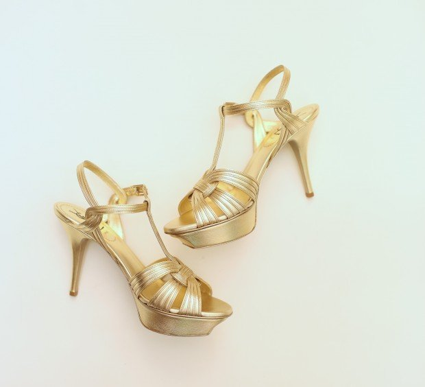 Look 6 Yves Saint Laurent shoe, $1,095, Neiman Marcus