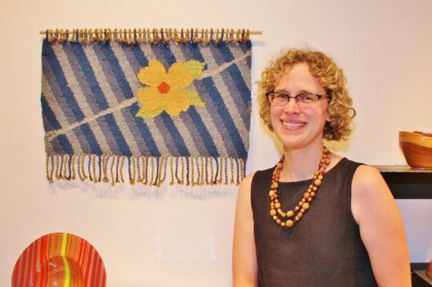 Theresa Kurtz with her piece 'Dogwood Bloom' (Facebook, Theresa Kurtz)