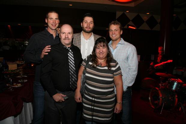 Rickey and Lisa Dobson, Chris Carpenter, Lance Lynn, Trevor Rosenthal