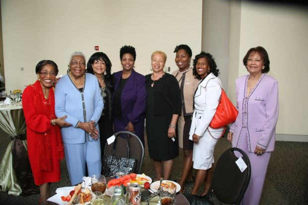 Mary Polk, Dr. Katie Wright, Rev. Dr. Jackie Brock, Andrea Tolden Hughes, Patricia Thornton, Nicole Adewale, Honoree Darlene Davis, Johniola Spencer