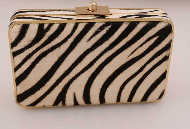 Look 3 zebra bag, $185, J.McLaughlin