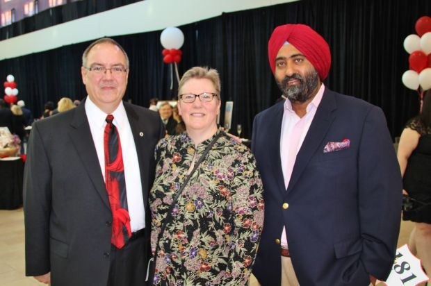 Steve and Nancy Kidwell, Harinder Singh