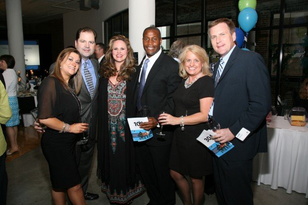 Becky and Rich Browne, Julie and Leonard Adewunmi, Angie and Jeff Schaefer