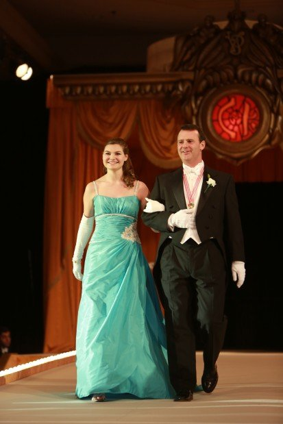 Abigail Sally Margulis, daughter of Mr. and Mrs. William Margulis, escorted by Christopher Thompson