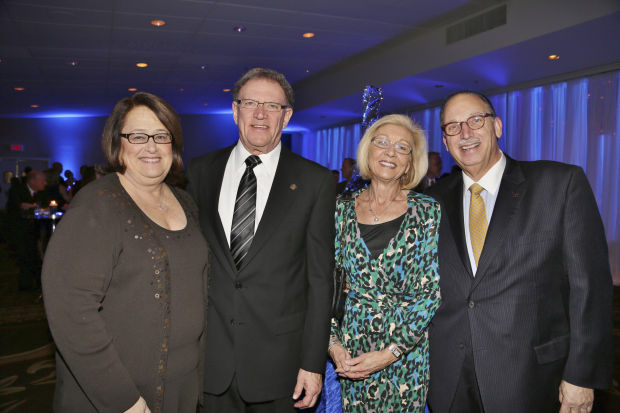 Diane and Clayton Mayor Harold Sanger, Cindy and Alex Berger