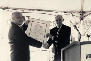 non profit_CSC_Mel Dunkelman Receiving TWC Charter from Harold Benjamin.JPG