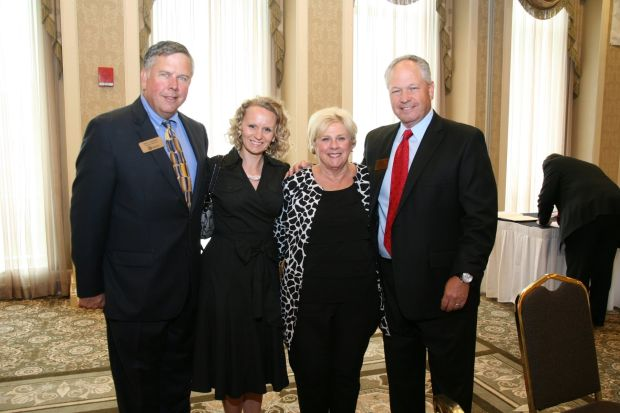 Rick Lommel, Carolyn Gertsch, Judy Ciapciak, Master of Ceremonies Guy Phillips
