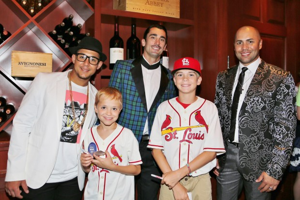 Jon Jay, Jon Morley Make a Wish Child, Matt Carpenter, James Morley, Carlos Beltron