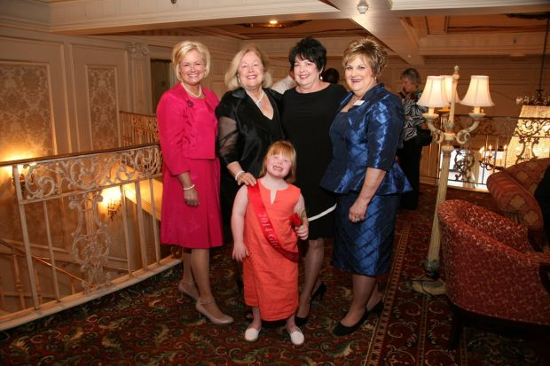 Representative Sheila Solon, Mary Pillsbury Wainwright, Mary cotton, JoAnn Shaw, with Girl of the Year Allie
