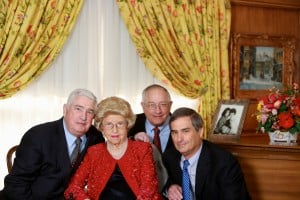 Frieda Handelman, who just celebrated her 100th birthday, with sons Neil, Gary and Howard