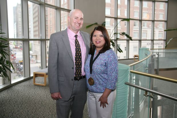 Dave Tobin, Honoree Trish Muyco-Tobin