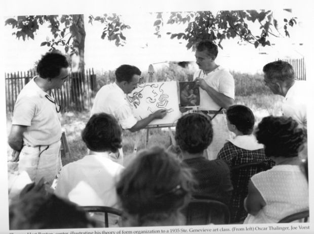 ste. gen feature_Thomas Hart Benton at 1935 Ste. Gen art class--with permission from the Barbara Hankins collection.jpg