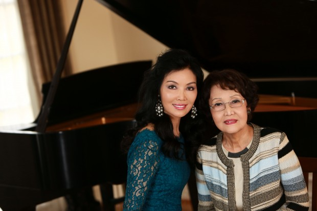 Miran Halen with her mother, Sun Cha
