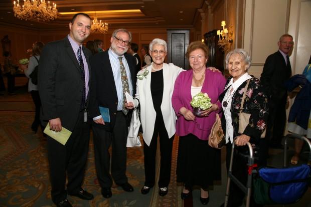 Andrew Goldfeder, Dan Reich, Felicia Wertz, Sr. Hilda Lebedun