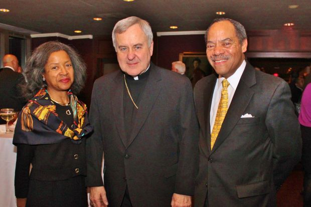 Nina Smiley Wilkins, Archbishop Robert Carlson, Milton Wilkins