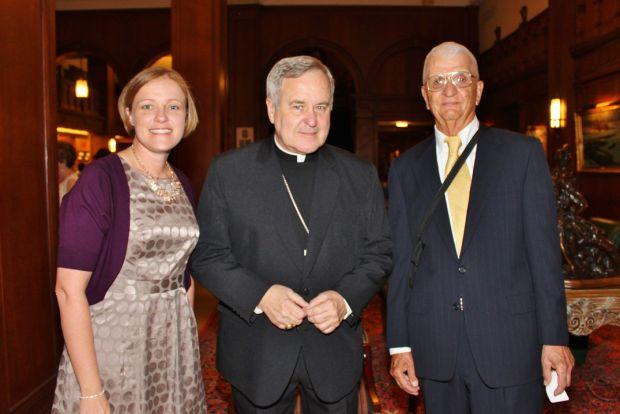 Dr. Annie Koenen, Archbishop Robert Carlson, Jerry Sommer