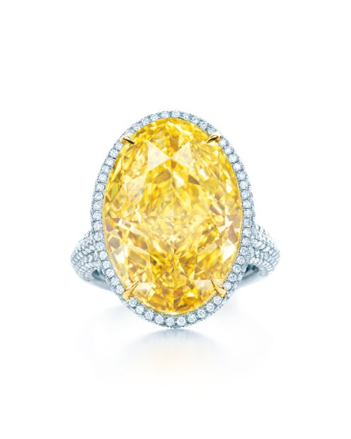 Oval Yellow Diamond Ring