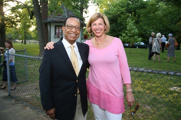 Former Mayor Clarence Harmon, Trudy Busch Valentine