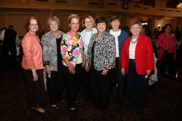 Joyce Clyne, Carol McMahon, Marcia Brunner, Mary Sinnett, Kathe Buthe, Kathy Billings, Ruth Hall