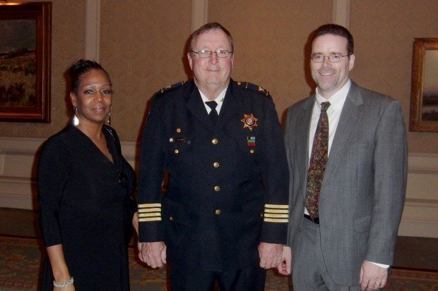 June Waters, Chief Tom Byrne, Darren Young