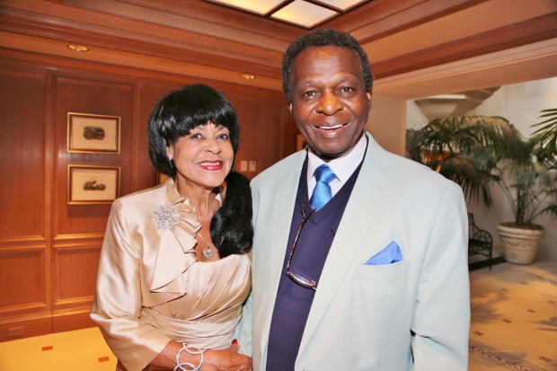 Jackie and Lou Brock