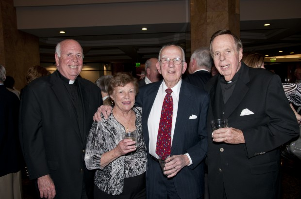 Rev. Gene Brennan, Rose and John Winter, Rev. George Brennan
