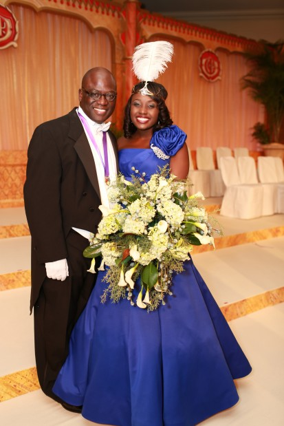 First Special Maid Moyosola Olawunmi Taiwo-Akande with her father, Dr. Benjamin Akande
