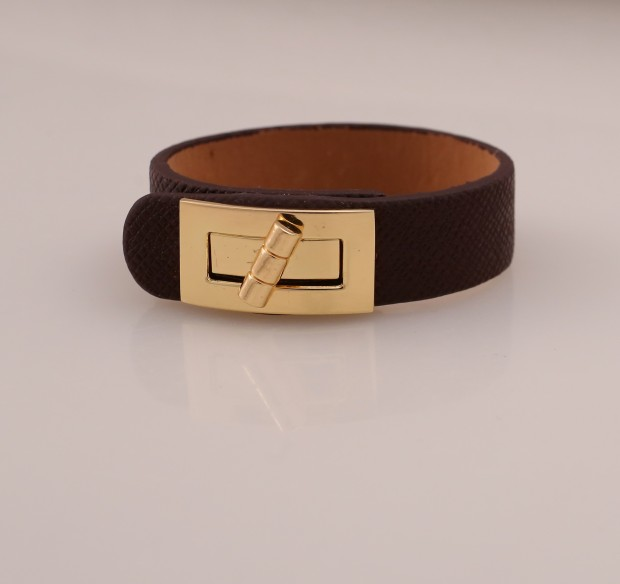 Look 4 leather cuff, $20, Alixandra Collections